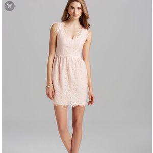 NWT shoshanna pink lace dress size 0 XS